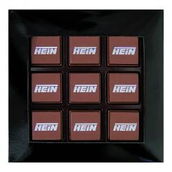 Logo-Bombones en caja de 9