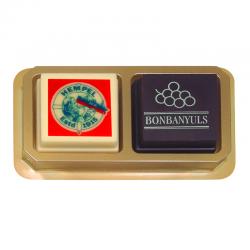 Logo-Bombones en blister de 2