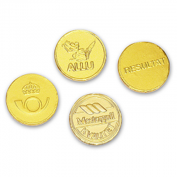 Moneda de chocolate 55
