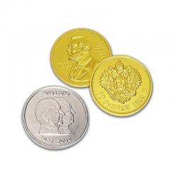 Moneda de chocolate 100