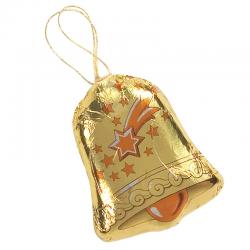 Campana dorada de chocolate