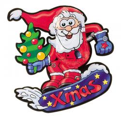 Santa de chocolate en snowboard