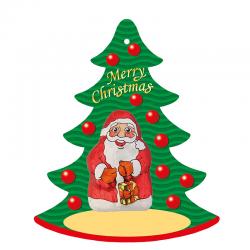 Santa de chocolate para colgar