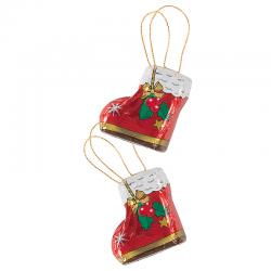 Bota de Papa Noel de chocolate