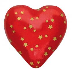 Corazón estrellita de chocolate