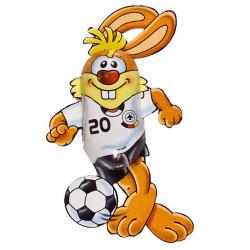 Conejo futbolista de chocolate