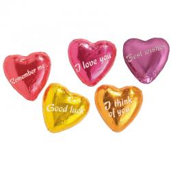Corazón de chocolate con mensajes