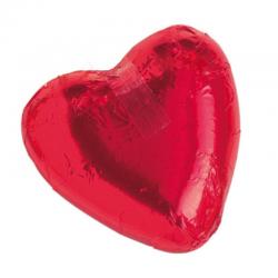 Corazón de chocolate rojo