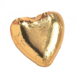 Corazón de chocolate dorado