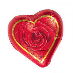 Corazón de chocolate rosa